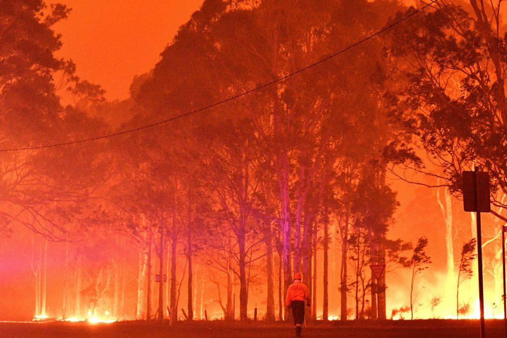 Las costas de Australia están envueltas en llamas