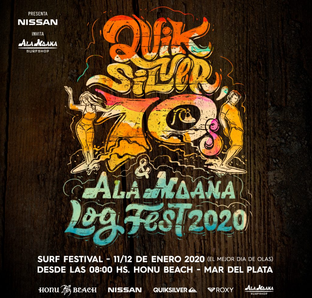 Quiksilver 70′ y Ala Moana Log Fest